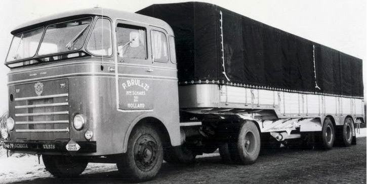 B - Scania-Vabis, LV 75 165 hp 10,26 l, 6 cyl D10R01 1958 – 1963 L 75 chassis with Bulthuis cabin (Alu)